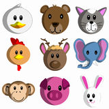 Cute cartoon animal head Stock Image