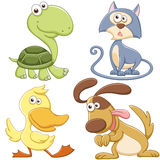 Cute cartoon animal set Stock Photo