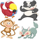 Cute cartoon animal set Stock Photos
