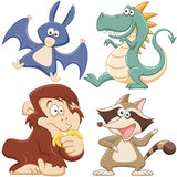 Cute cartoon animal set Royalty Free Stock Photo