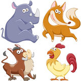 Cute cartoon animal set Stock Photography