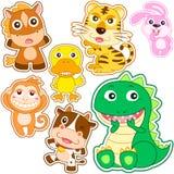 Cute Cartoon Animal Set Royalty Free Stock Image