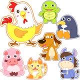 Cute cartoon animal set Stock Photos
