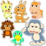 Cute cartoon animal set Royalty Free Stock Images