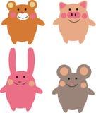 Cute cartoon animals Royalty Free Stock Photos