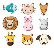 Cute cartoon animals Royalty Free Stock Photography