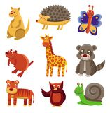 Cute cartoon animals Royalty Free Stock Images