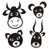 Cute cartoon animals vector illustration