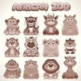 Cute Cartoon Animals. Set of Vector Characters Stock Photo