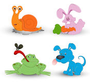 Cute Cartoon Animals Vector Royalty Free Stock Photography