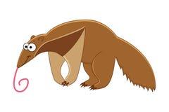 Cute cartoon anteater. stock image