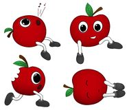 Cute cartoon apples Stock Images