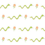 Cute cartoon arrow snake seamless pattern background illustration Royalty Free Stock Images