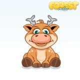 Cute Cartoon Axis Deer. Funny Vector Animal Royalty Free Stock Photos