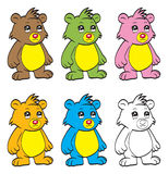 Cute cartoon baby bear Stock Photos