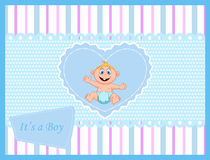 Cute cartoon baby card Royalty Free Stock Image