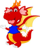 Cute cartoon baby dragon Royalty Free Stock Images