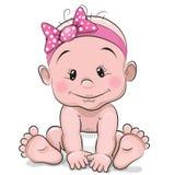 Cute cartoon baby girl Royalty Free Stock Photos