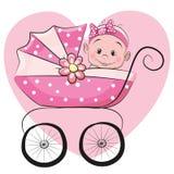 Cute cartoon baby girl Stock Image