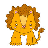 Cute cartoon baby lion Royalty Free Stock Image