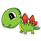 Cute Cartoon  Baby Stegosaurus Dinosaur Stock Image