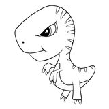 Cute Cartoon of Baby T-Rex Dinosaur Stock Photo