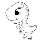 Cute Cartoon of Baby T-Rex Dinosaur Royalty Free Stock Images