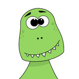Cute cartoon baby t-rex portrait Royalty Free Stock Images