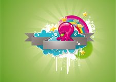 Cute cartoon background Royalty Free Stock Images