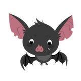 Cute cartoon bat character. Royalty Free Stock Image