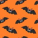 Cute cartoon bat halloween seamless pattern Stock Photo
