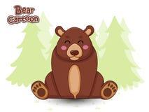 Cute Cartoon Bear Characters. Vector Illustration Cartoon Style. Animal stock illustration