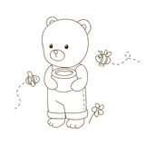 Cute cartoon bear Stock Image