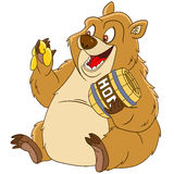 Cute cartoon bear Royalty Free Stock Photography