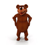 Cute cartoon bear. Isolated on white 3D Illustration. Cute cartoon bear. Isolated on white background 3D Illustration Royalty Free Stock Images