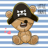 Cute cartoon Bear in a pirate hat Royalty Free Stock Photo
