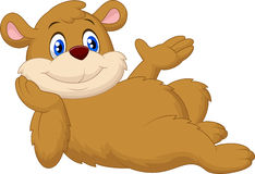 Cute cartoon bear relaxing Stock Photo