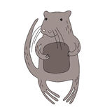 Cute cartoon beaver character, vector isolated illustration in simple style. Royalty Free Stock Image