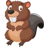 Cute Cartoon beaver Royalty Free Stock Image