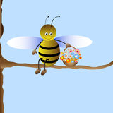 Cute cartoon bee Stock Photo