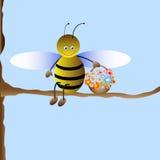 Cute cartoon bee. Vector illustration stock illustration