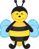 Cute cartoon bee Royalty Free Stock Image