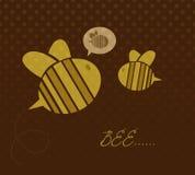 Cute cartoon bees Royalty Free Stock Photos