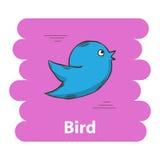 Cute cartoon bird icon Stock Images