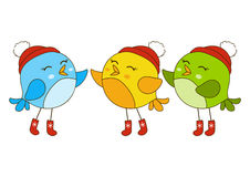 Cute cartoon birds Royalty Free Stock Photo