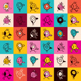 Cute cartoon birds seamless pattern Stock Photography