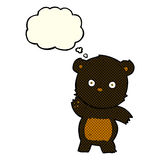 Cute cartoon black bear with thought bubble Stock Images
