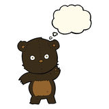 Cute cartoon black bear with thought bubble Stock Photo
