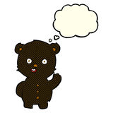 Cute cartoon black bear with thought bubble Stock Photos