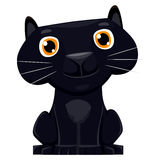 Cute cartoon Black Panther Royalty Free Stock Photos